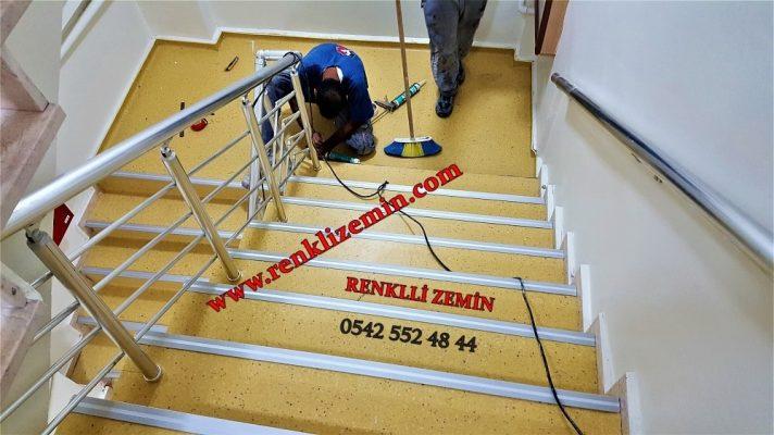Sarı Pvc Merdiven Kaplaması