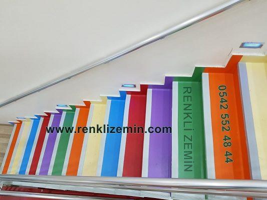 Renkli Pvc Merdiven Kaplaması