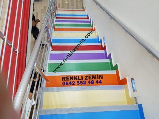 Anaokulu Pvc Merdiven Kaplaması