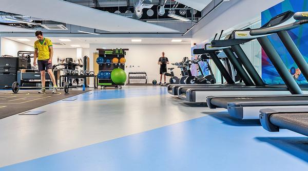 fitness spor salonu yer-döşemesi