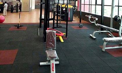 fitness spor salonu kauçuk zemin kaplama
