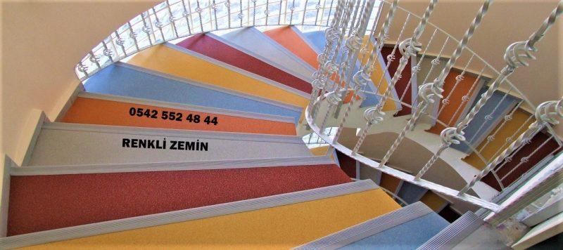 Dönerli Merdiven Kaplama Modelleri