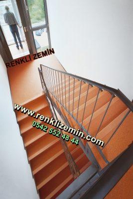 Turuncu renkli Merdiven Kaplama Modelleri