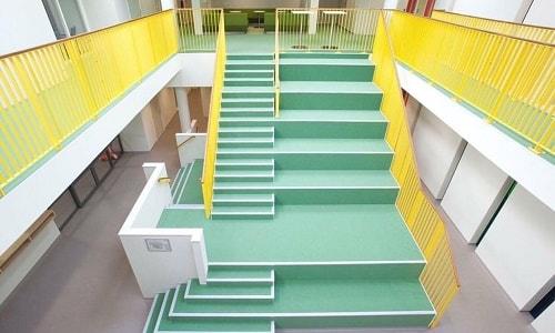 Yeşil renkli Merdiven Kaplama Modelleri