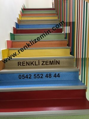 renkli Merdiven Kaplama Modelleri