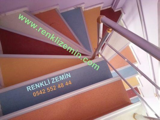 renkli Merdiven Kaplama Çeşitleri